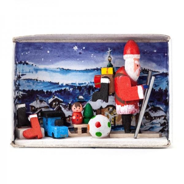Dregeno Erzgebirge - Zündholzschachtel verlorene Weihnachtsgeschenke