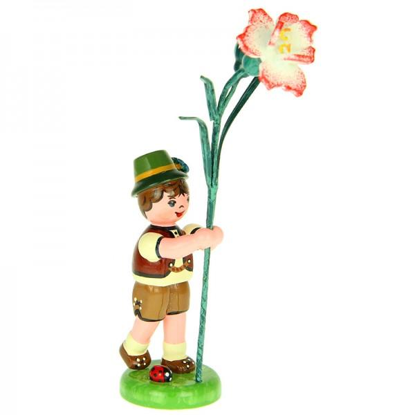 Hubrig Blumenjunge 11cm Blumenkind mit Nelke