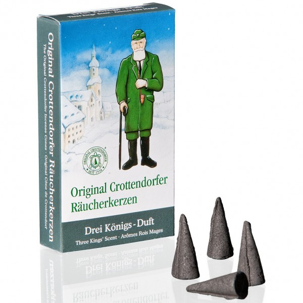 Original Crottendorfer Räucherkerzchen - Drei Königs-Duft