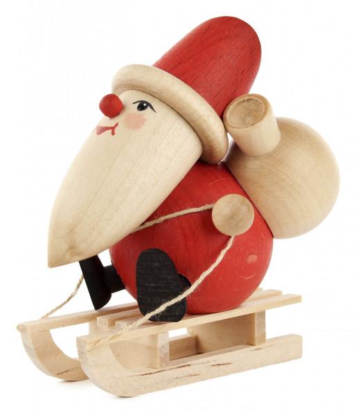 Dregeno Erzgebirge - Weihnachtsmann mit Schlitten