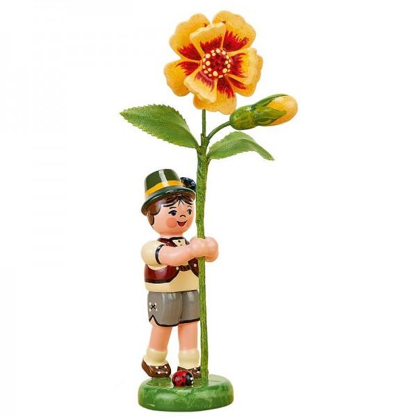 Hubrig Blumenjunge 11cm Blumenkind mit Tagetes