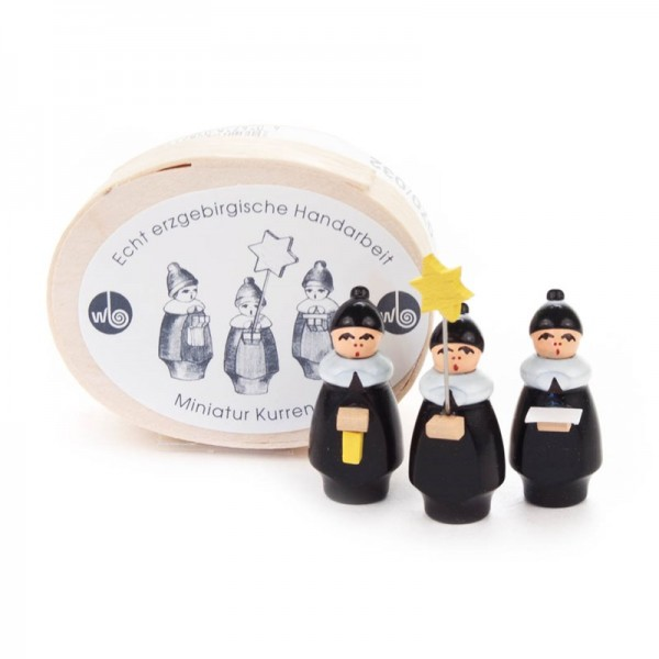 Dregeno Erzgebirge - Miniatur-3 Kurrendefiguren in Spandose