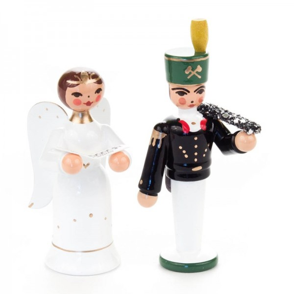 Dregeno Erzgebirge - Miniatur-Engel und Bergmann
