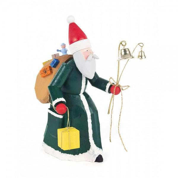 Dregeno Erzgebirge - Alter Weihnachtsmann, geschnitzt, grün-rot
