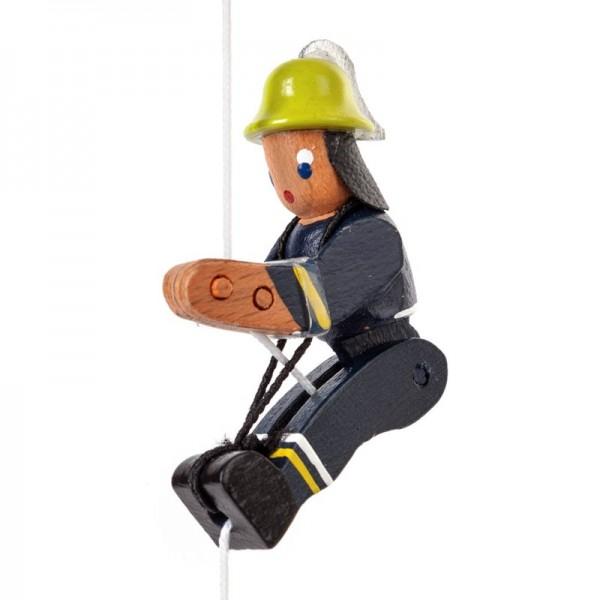 Dregeno Erzgebirge - Miniatur-Kletterfigur Feuerwehrmann in neuzeitlicher Uniform