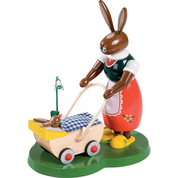 Richard Glässer Osterhase mit Kinderwagen