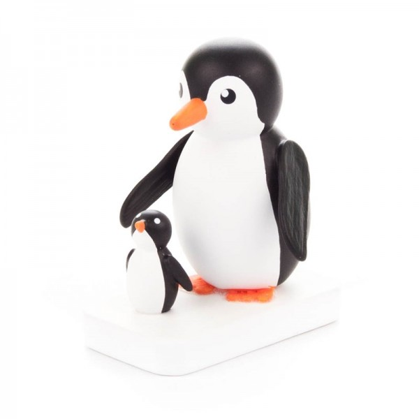 Dregeno Erzgebirge - Miniatur-Pinguin Mutter mit Kind