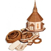 Seiffener Volkskunst - Bastelset - Seiffener Kirche mit Beleuchtung