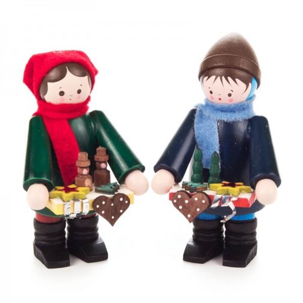 Dregeno Erzgebirge - Miniatur-Striezelkinder, klein, farbig