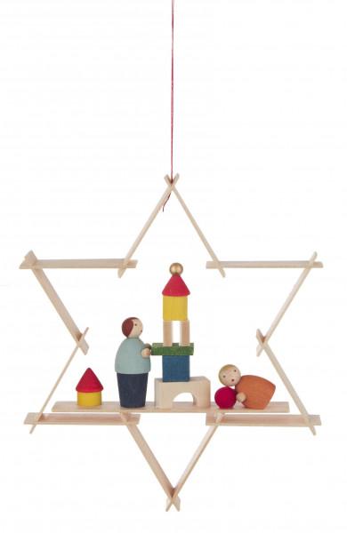 Dregeno Erzgebirge - Behang Kinder mit Spielzeug