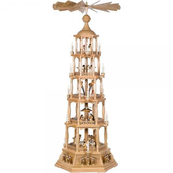 Richard Glässer Erzgebirgspyramide Christi Geburt elektrisch 140cm