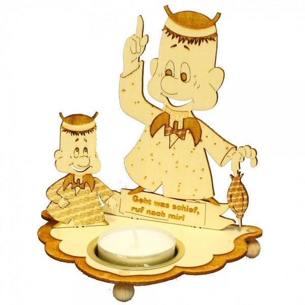 HELA Holzkunst - Teelichthalter Arthur ruft