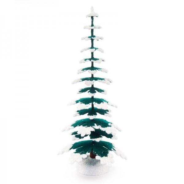 Dregeno Erzgebirge - Miniatur-Fichten, grün/weiß, 20 cm