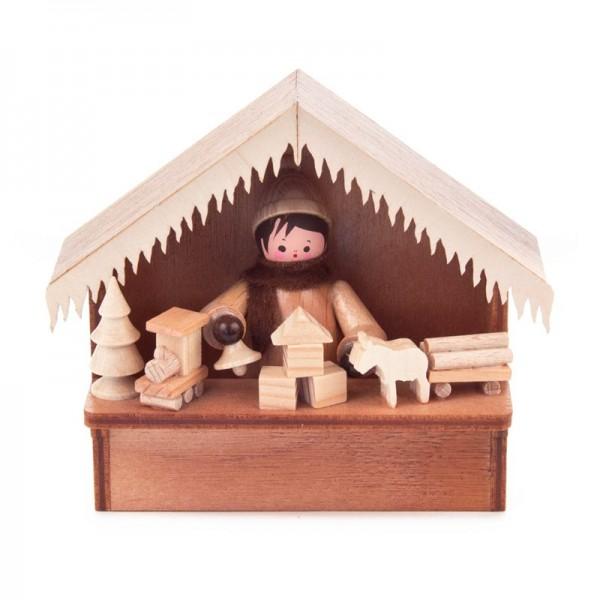 Dregeno Erzgebirge - Miniatur-Weihnachtsmarktbude Spielwaren