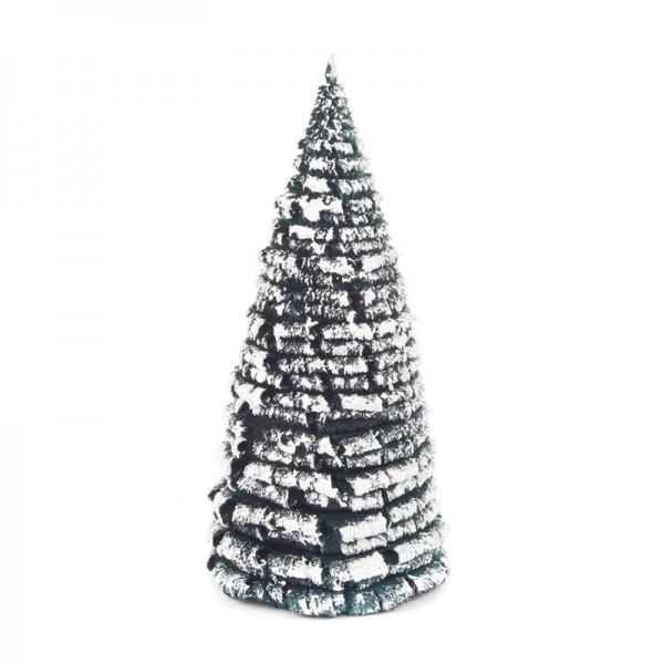 Dregeno Erzgebirge - Miniatur-Rauhreifbaum, grün/weiß, 16 cm