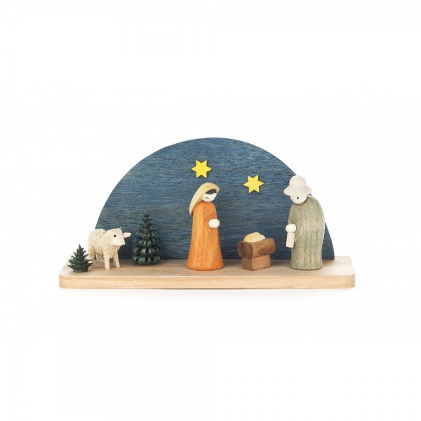 Dregeno Erzgebirge - Miniatur-Krippe Christi Geburt - 5cm