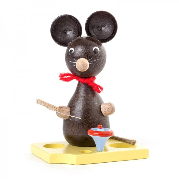 Dregeno Erzgebirge - Miniatur-Maus mit Kreisel