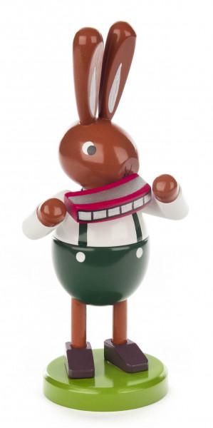 Dregeno Erzgebirge - Hase mit Mundharmonika groß
