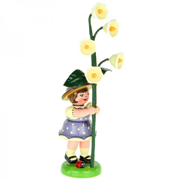 Hubrig Blumenmädchen 11cm Blumenkind mit Maiglöckchen