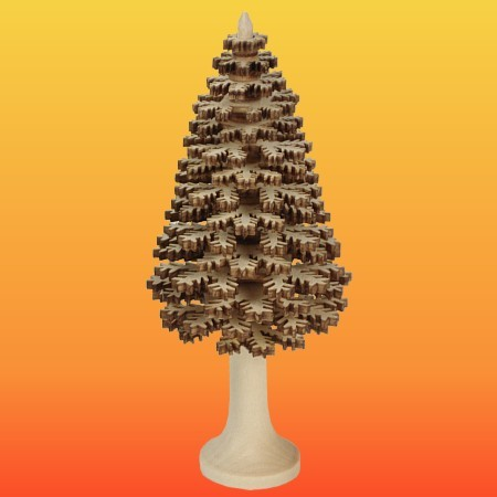 Lenk & Sohn Erzgebirgischer Schichtenbaum Nadelbaum 12cm natur