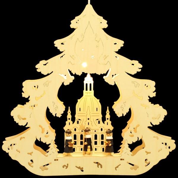 HELA Holzkunst - Fensterbild Baum Dresden mit Kurrendefiguren