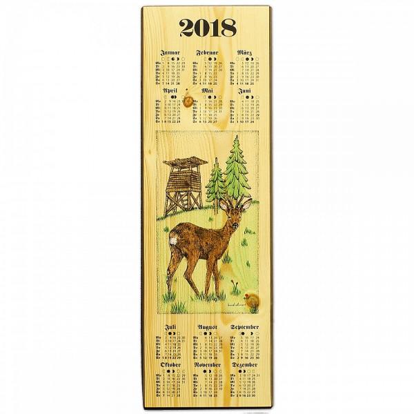 Holzkalender 2018 - Jagdmotiv Rehbock