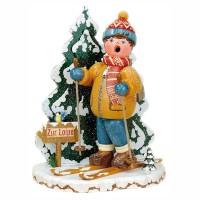 Hubrig Winterkinder Räuchermann Schneeschuhfahrer