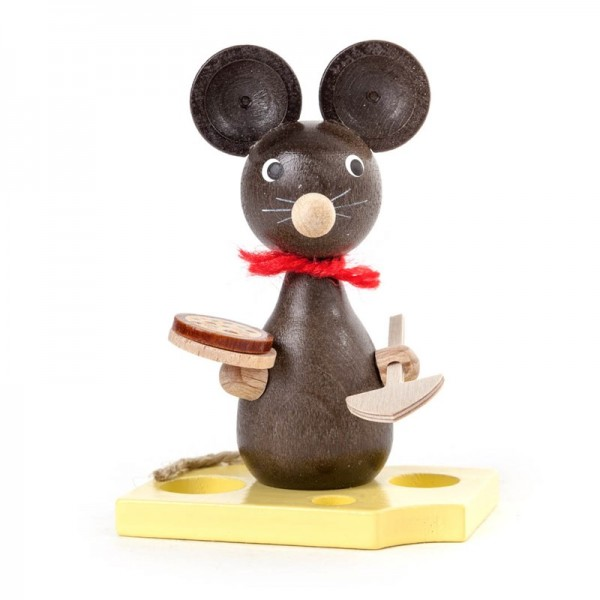 Dregeno Erzgebirge - Miniatur-Maus mit Pizza