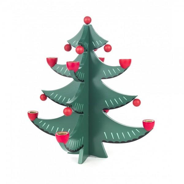 Dregeno Erzgebirge - Leuchter Tannenbaum, farbig - 27cm