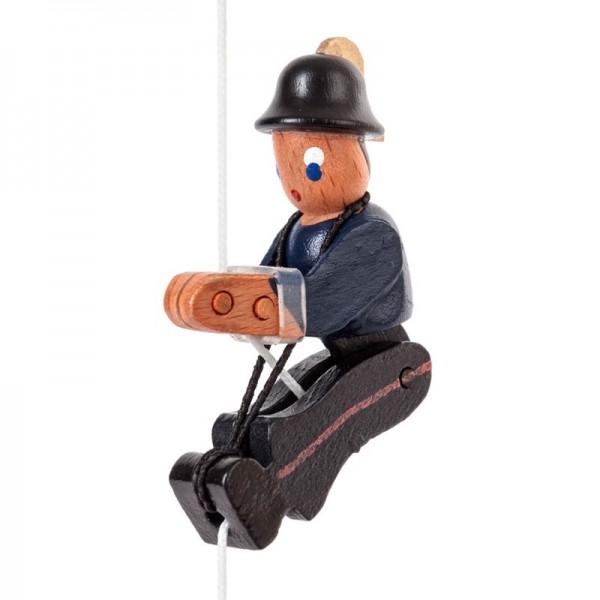 Dregeno Erzgebirge - Miniatur-Kletterfigur Feuerwehrmann in traditioneller Uniform