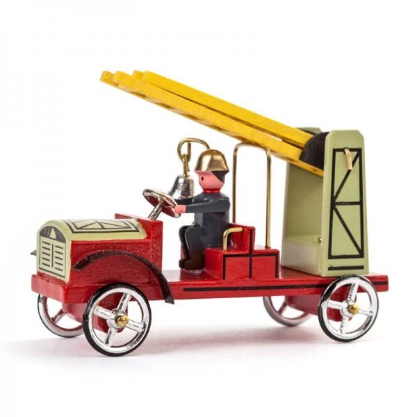 Dregeno Erzgebirge - Miniatur-Feuerwehrauto Leiterwagen