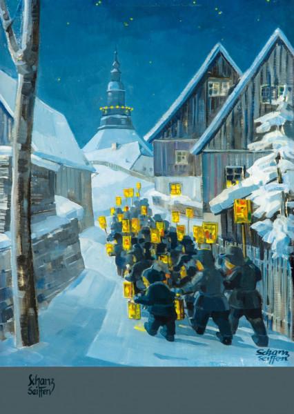Dregeno Erzgebirge - Künstlerkarte Max Schanz »Farben des Gebirges«, Mettengang