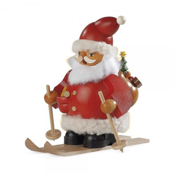 Müller Räuchermann klein Weihnachtsmann auf Skier 14cm