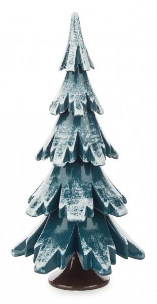 Dregeno Erzgebirge - Massivholzbaum grün/weiß 12,5 cm