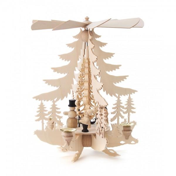 Dregeno Erzgebirge - Pyramide mit Weihnachtsfiguren - 34cm