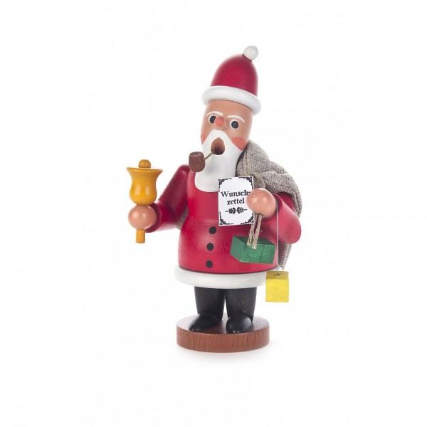 Dregeno Erzgebirge - Miniatur-Räuchermann Ruprecht mit Jutesack und Glocke - 12cm
