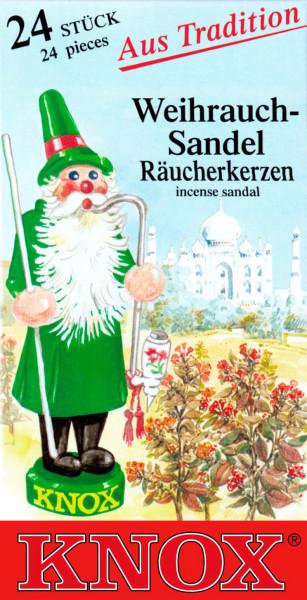 Dregeno Erzgebirge - KNOX Räucherkerzen Sandel (24)