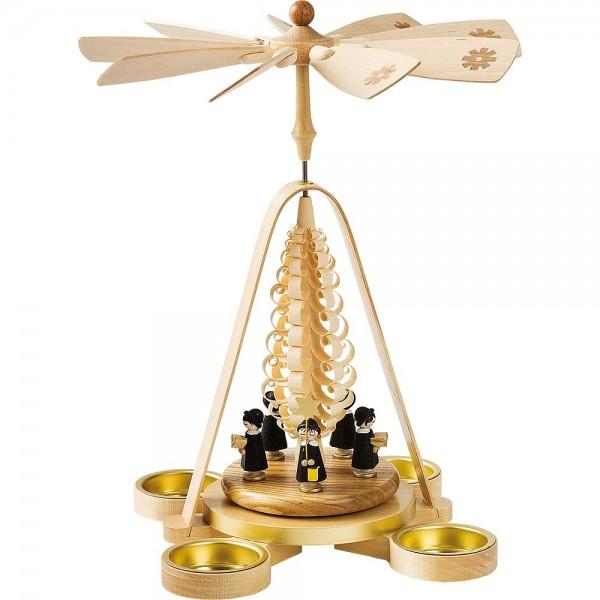Richard Glässer Erzgebirgspyramide Kurrende für Teelichte 28cm