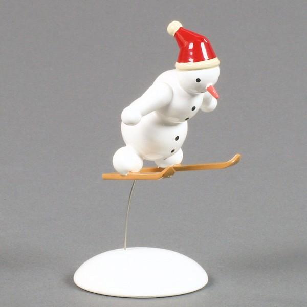 Dregeno Erzgebirge - Miniatur Schneemann Skispringer - 9cm
