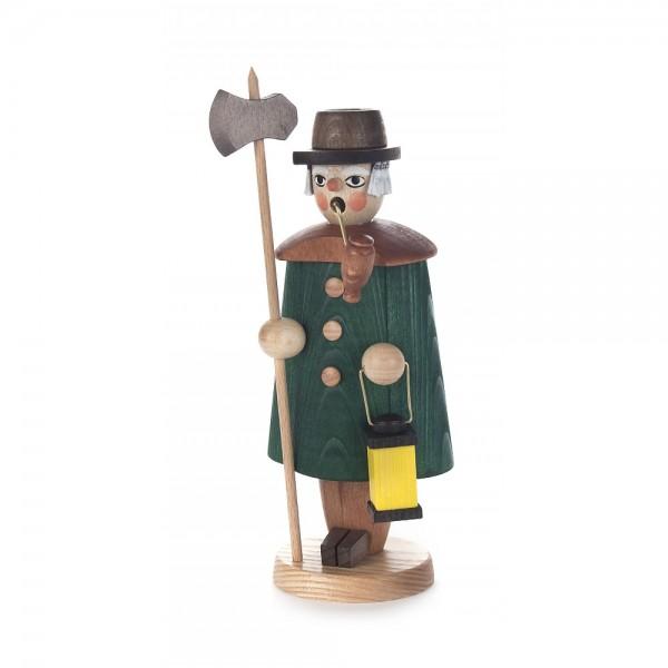 Dregeno Erzgebirge - Räuchermann Nachtwächter, grün - 19cm