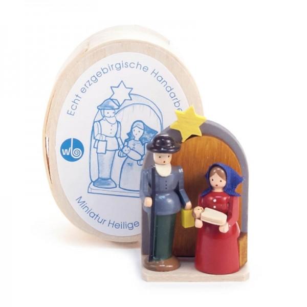 Dregeno Erzgebirge - Miniatur-Christi Geburt in Spandose