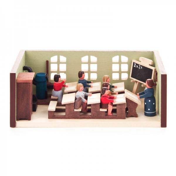 Dregeno Erzgebirge - Miniatur-Schulstube mit Lehrerin