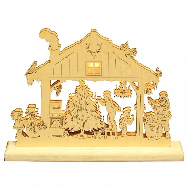 HELA Holzkunst - Weihnachtshaus Heiliger Ohmd LED