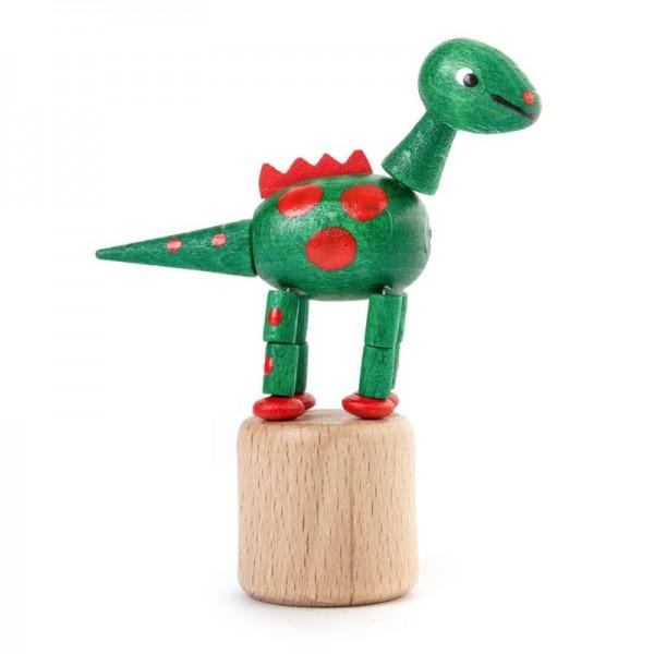 Dregeno Erzgebirge - Miniatur-Wackeltier Dinosaurierer, grün