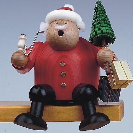 KWO Räuchermann Erzgebirge Kantenhocker Weihnachtsmann 15cm