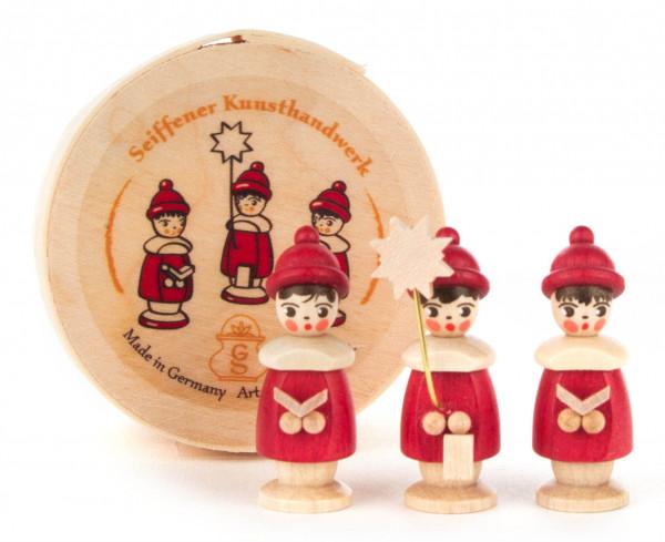 Dregeno Erzgebirge - Kurrendefiguren rot in Spandose (3)