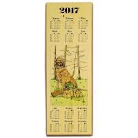 Holzkalender 2017 - Jagdmotiv Jagdhund