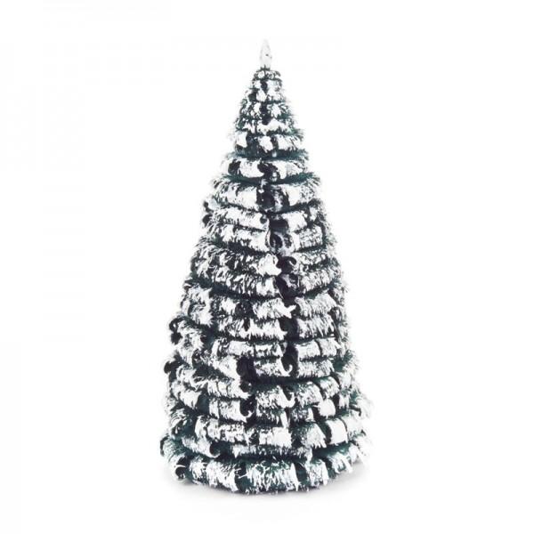 Dregeno Erzgebirge - Miniatur-Rauhreifbaum, grün/weiß, 12 cm, 3-teilig