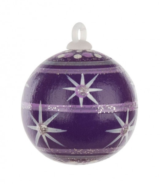 Dregeno Erzgebirge - Weihnachtsbaumkugel 3,0cm, violett-Variante: 2/30