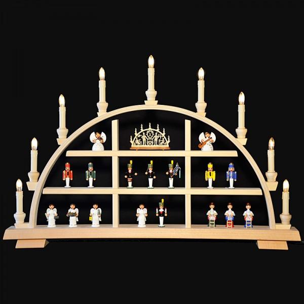 Holzkunst Niederle - Setzkasten-Schwibbogen für Sammler ohne Dekoration